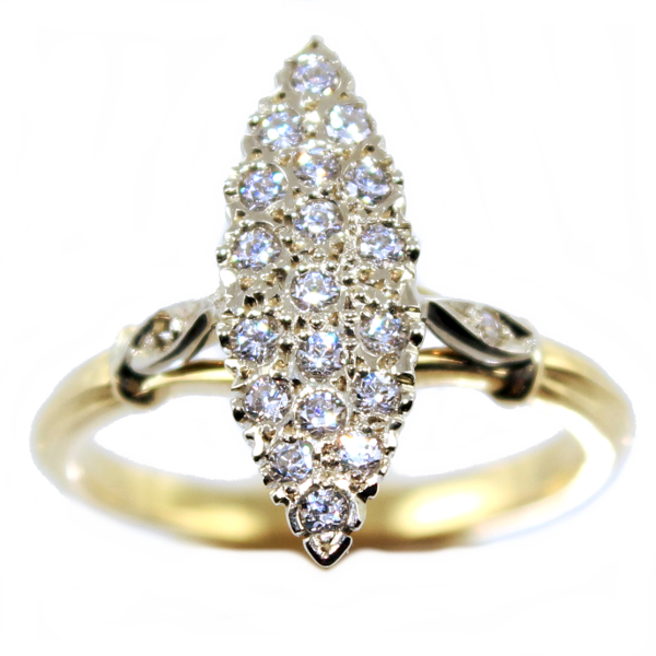 bague femme or marquise