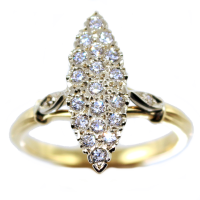 Bague Or Bicolore Marquise Noailles