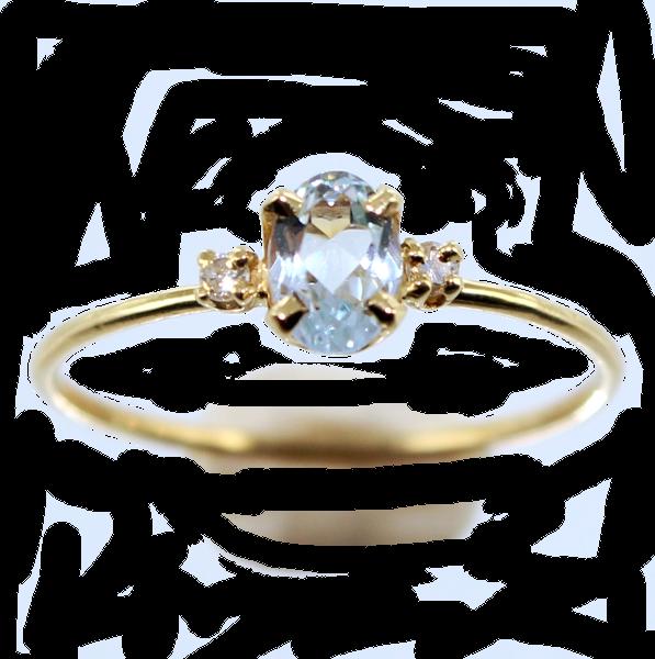 Fabuleux Bague Les petites pierres de couleur en diamant DF08