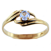 Bague Or 18 K Jaune Serti griffe Sunset