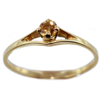 Bague Or Jaune Serti griffe Sunrise
