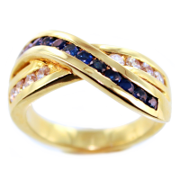 Bague Or Jaune Serti rail Sacrosse