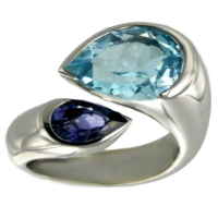 Bague Or Blanc Serti clos Chloris