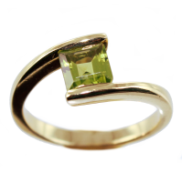 Bague Or Jaune Serti suspendu Bird