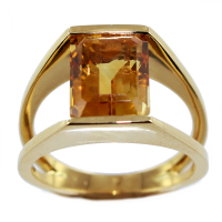 Bague Or Jaune Serti suspendu Joss