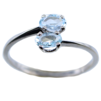 Bague Or Blanc Serti griffe Crete