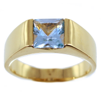 Bague Or Jaune Serti clos Carenne