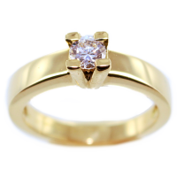 Bague de fiançailles Serti griffe Marylina 0,16ct Or Bicolore