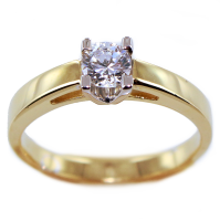 Bague de fiançailles Serti griffe Maple 0,23ct Or Bicolore