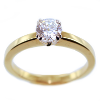 Bague de fiançailles Serti griffe Mathilde 0,65ct Or Bicolore
