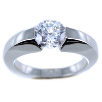 Bague de fiançailles Serti suspendu Madrine 1,45ct Or Blanc