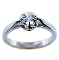 Bague de fiançailles Serti illusion Nuve 0,16ct Or Blanc