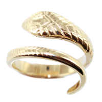 Bague Or Jaune Serpent Cobra