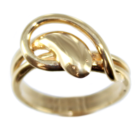 Bague Or Jaune Serpent Couleuvre