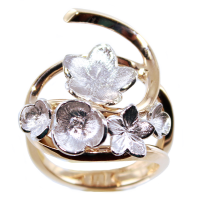 Bague Or Bicolore Florillon