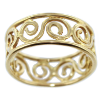 Bague Or Jaune Spirales