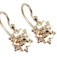 Boucles d'oreilles Or 18 K Rose Bouton d'or rose