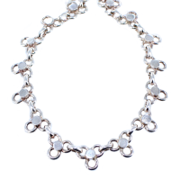Collier Argent Lady Rock