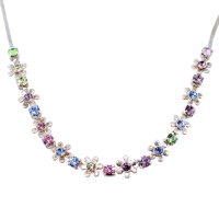 Collier Argent Rosy