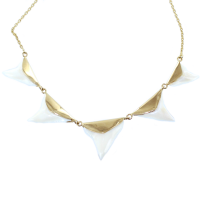 Collier Or Jaune Dents de requin