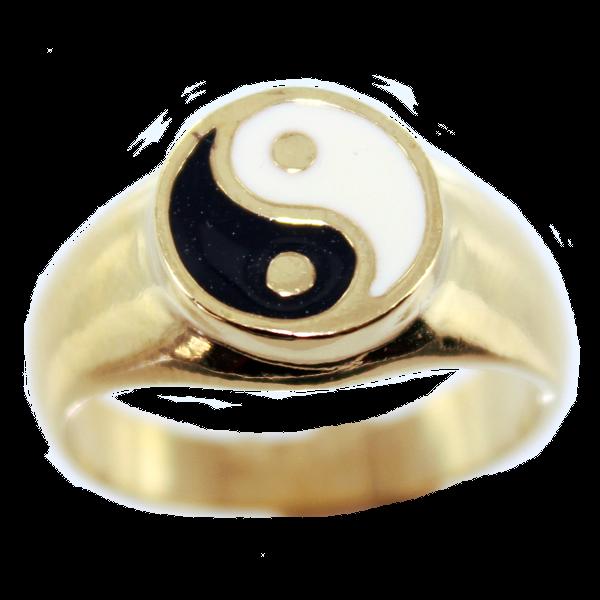 bague femme yin yang