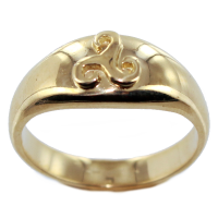 Bague Triskell en relief Or Jaune