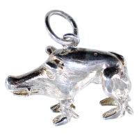 Pendentif Argent Sanglier Khomyna Mohyla - Taille 2