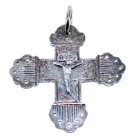 Croix grille ancienne - Taille 2 Argent