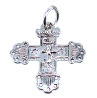 Croix grille ancienne - Taille 1 Argent