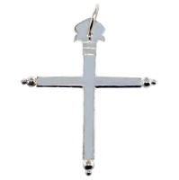 Croix Plate - Taille 5 Argent