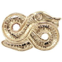 Broche Or Jaune Serpent de Mer Serpent du monde