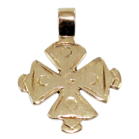 Croix Malte Ancienne - Taille 2 Or Jaune