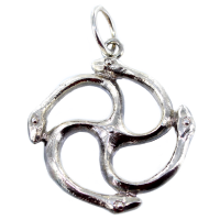 Pendentif Argent Triskell 4 Couleuvres - Taille 2