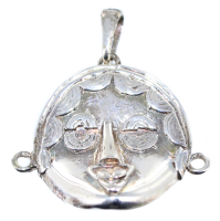 Pendentif Argent Masque africain Akan