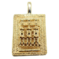 Pendentif Or Jaune Poids africain Mpongwè