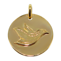 Médaille Colombe Or Jaune