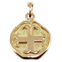 Médaille Croix cathare Or Jaune