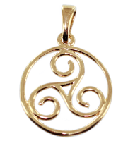 Pendentif Or Jaune Triskell encerclé - Taille 3