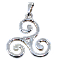 Pendentif Argent Triskell simple - Taille 8