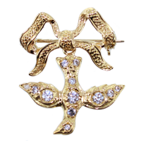 Broche Or Jaune Saint Esprit Normand - Taille 2