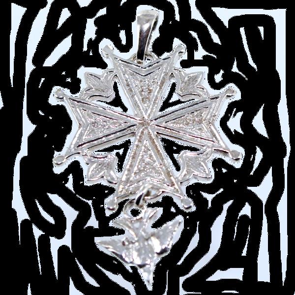 Croix huguenote ornée  Taille 2  Cliquer pour agrandir ~ Croix Huguenote En Bois