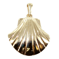 Pendentif Or Jaune Coquille Saint Jacques Simple - Taille 3