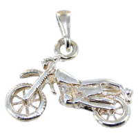 Pendentif Argent Motocross - Taille 1