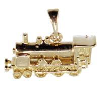 Pendentif Or Jaune Locomotive - Volume