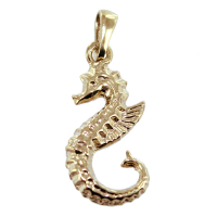 Pendentif Or Jaune Hippocampe - Taille 4