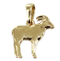 Pendentif Or Jaune Chamois - Demi-relief Taille 1