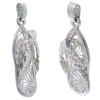 Pendentif Argent Chaussure Tong