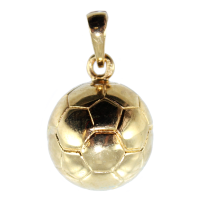 Pendentif Or Jaune Ballon de football - 15 mm