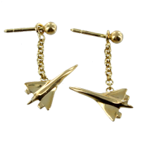 Boucles d'oreilles Or Jaune Avion