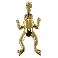 Pendentif Or Jaune Grenouille - Taille 1